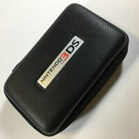 Nintendo 3DS XL Travel Case Black Zip Up Game Console Case