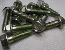 M10 10mm X 1.50 Coarse X 34mm Thread Hex Flange Head Bolt Lot Of 12 Bolts