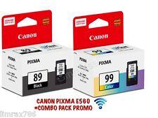 GENUINE CANON PIXMA CL-99 COLOR & PG-89 BLACK CARTRIDGE FOR E560 -WIFI