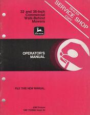John Deere Commercial Walk Behind Mower Operators Manual Om-Ty20684 A4 (566)