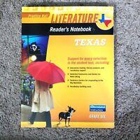 Prentice Hall Literature Readers Notebook Texas Grade Six Textbook Workbook NEW