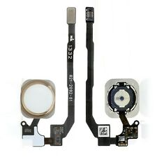 NEW White & Gold Home Button With Flex Cable OEM For iPhone 5S MPN 821-2092-01