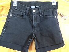 A/X Armani Exchange Womens Jean Shorts Black Size 0 Regular