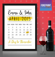 Personalised Calendar wedding memory print - perfect Anniversary,SPECIAL DAY