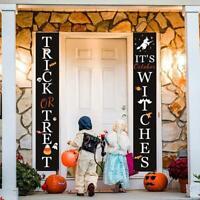 Halloween Porch Banner Durable Hanging Wall Door Sign for Outdoor Decoration