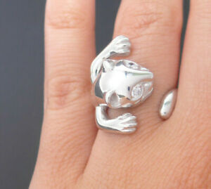 NEU Ring Silberring 925 SILBER Sterling silver bague argento Zirkonia Katze cat