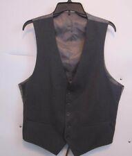 CARAVELLI  Mens Dark Adjustable Back Gray Suit/ Dress Vest