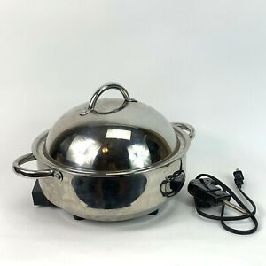 """Wolfgang Puck Cafe Collection 12"""" Electric Skillet w/dome Lid And Cord 5qt 1500w"""