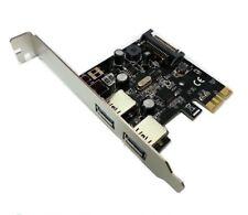 Skymaster 2 Port USB 3.0 PCI-E Card Low Profile for HP DL360e DL360p DL320e G8