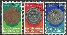 LIECHTENSTEIN/ Munzen auf Briefmarken MiNr 677/79 o Ersttagstempel