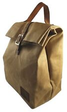 Reusable Thermal Insulated Lunch Bag with handle - Waxed Canvas - Waterproof ...