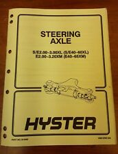 Hyster Steering Axle Manual Part No.910460