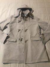 Topman Wool Blend Doeskin Duffle Toggle Coat - Beige - Medium