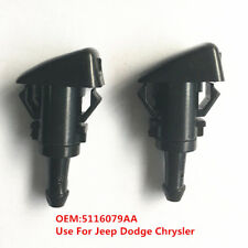 2PCS 5116079AA Windshield Wiper Water 2 Jet Spray Nozzle For Dodge Jeep Chrysler