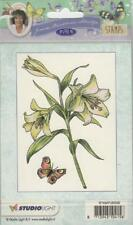 New Studio Light Janneke Brinkman A6 clear rubber Stamp LILY FLOWERS