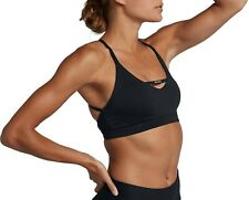 Nike Women's Dri-Fit Indy Just Do It Padded Sports Bra Black CD7124-646 Size XS
