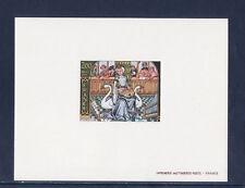 épreuve de luxe  tableau miniature sur la musique  1979   num: 2033