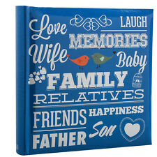 Large Blue Memo Slip In 10 x 15 cm For 200 Photos  Family Photo Album - PF200BE