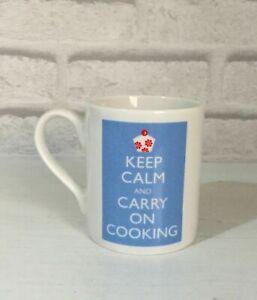 KEEP CALM & CARRY ON COOKING Coffee Mug FINE BONE CHINA Funny Joke Humour GIFT