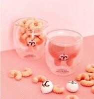 Kanahei Pink Rabbit Hello Kitty Tea Coffee Double Deck Mugs Cups Gift Present