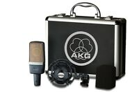 AKG C 214  Large Diaphragm Cardioid Condenser Microphone, Shockmount, Carry Case