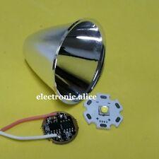 Cree XM-L T6 LED Flashlight Aluminum Reflector Cup +led chip+driver for diy kit