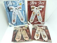 4x DImensions + JCA Counted Cross Stitch Decorative Bow Tie Kits - Cats, Easter