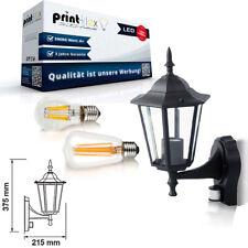 LED Garden Wall Light Outdoor Light 6W Rustic Retro Motion Sensor Black