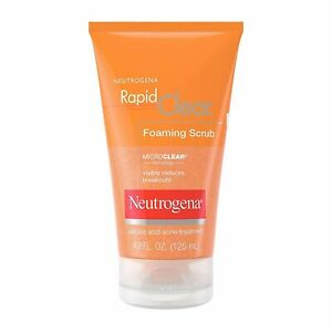 Neutrogena Rapid Clear Foaming Exfoliating Facial Scrub (Pack Of 3)- Exp.07/2020