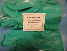 Free Shipping,12 Pair, 2970SL/xxl Nitrile Liquid Proof  Glove with Flock Lining