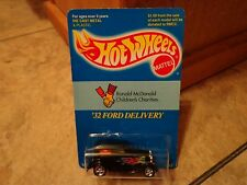 1995 HOT WHEELS '32 FORD DELIVERY CAR (NEW) RONALD MCDONALD LIMITED EDITION