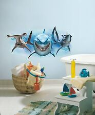 DISNEY FINDING NEMO SHARKS Giant WALL DECALS Ocean Fish Stickers Kid Room Decor