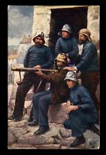 Lifeboatmen on the Lookout artist drawn Tuck Oilette 9159 PPC used 1907