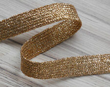 NARROW  METALLIC GOLD BRAID/SEWING & CRAFTS X 100 m