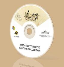 Chinese Oriental Painting 2,700 Vintage New Collection DVD