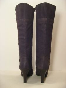 SOFFT Women's Gray Nubuck Suede Leather Knee High Dress Boots - size 12 M
