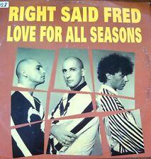"New listing Right Said Fred 1992 Vinyl 12""- Love For All Seasons Dance Club Vintage Retro"