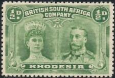 Rhodesia 1910  1/2d Dull Green  SG.122  Mint (Hinged)