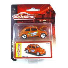 "Majorette 212052015 Volkswagen escarabajo ""Summer Time"" naranja - Vintage 1 64"