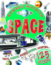 Sticker Activity Book Space (Paperback)