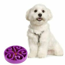 Pet Fun Feeder Dog Bowl Slow Eating Bloat Stop Food Plate Anti Skid Dishes Tray