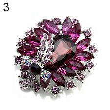 QA_ EG_ Women's Banquet Party Broach Clear Rhinestone Crystal Butterfly Pin Br