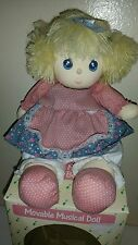 "MOVEABLE MUSICAL DOLL Moves Her Head with the Song ""LOVE STORY"" Vintage 1989"