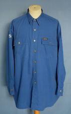 Vintage Polo Sport RL 67 Ralph Lauren Blue Cotton Men Shirt L/S L