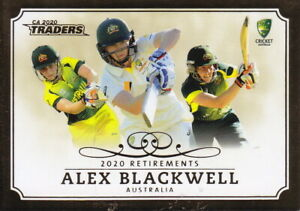 CRICKET 2020/21 - CA Traders Alex Blackwell 'Retirements' R2/3 Case Card #20/50