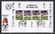FDC D28 Gibraltar 1998 Block CV 7.50 eur Sport Football