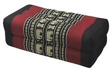 Thai Cotton Bolster Pillow Cushion Yoga Headrest Meditation Kapok 100% Filled
