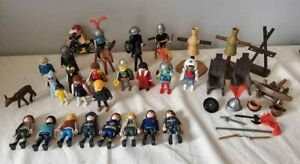 Lot of Vintage Figures PLAYMOBIL GEOBRA - Horses - Knights - King - Ghosts Mixed
