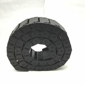 """igus 15.050.48 Energy Chain Cable Carrier 48""""(L) x 2 3/8""""(W) x 1""""(H) W/Brackets"""