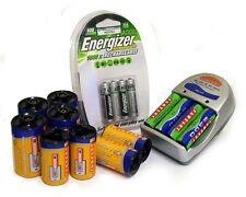 Fameart UBCK1 Universal Charger Kit + Battery Size Adapters & AA/AAA Batteries